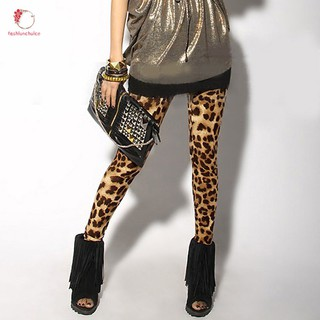 0194ebf09837c5 Spring Autumn Women Sexy Leggings Leopard Printed Stretch Cotton Lady Girls  Tight Pants