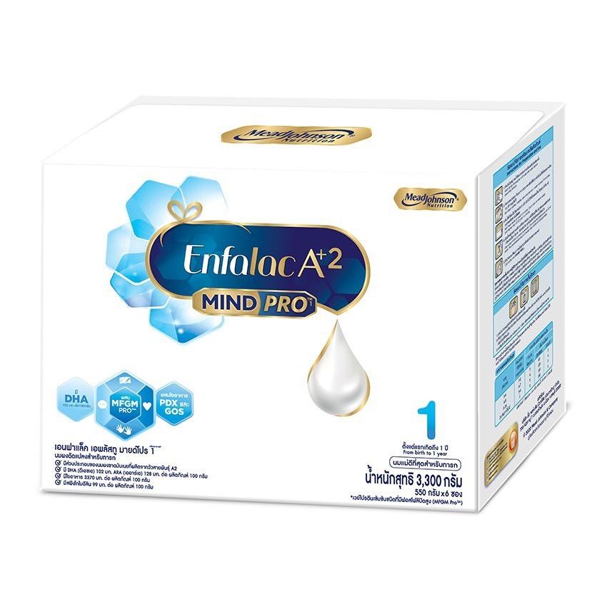ENFALAC A+2 เอนฟาแล็ค เอพลัสทู มายด์โปร สูตร 1 ขนาด 3300 กรัม (บรรจุ 550 กรัม x 6 ซอง)