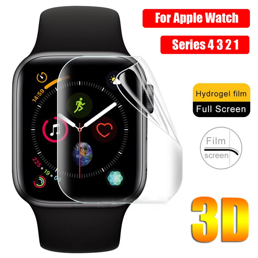 Watch Case Cover Hydrogel Film for Apple Watch 6 SE 5 4 3 Case 42mm 38mm Screen Protector Clear Full for IWatch Series SE 6 5 4 3 2 1 40mm 44mm