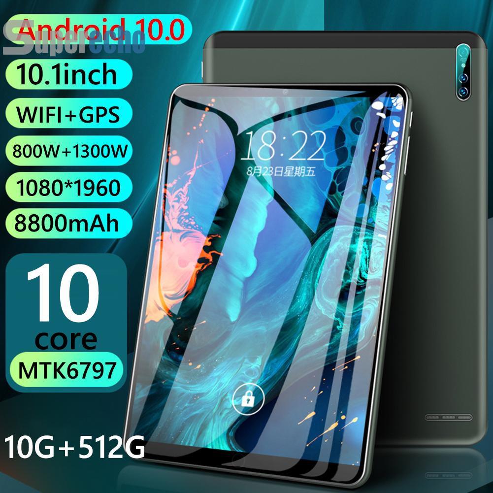 Sup J10 Android 10 Gb Ram 512 Gb Rom Wifi 5 G แท็บเล็ต + 64 Gb การ์ด Tf