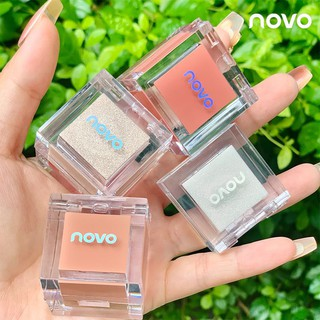 novo beauty small ice cube bright color blush high gloss all-in-one plate long-lasting waterproof and sweat-proof bright