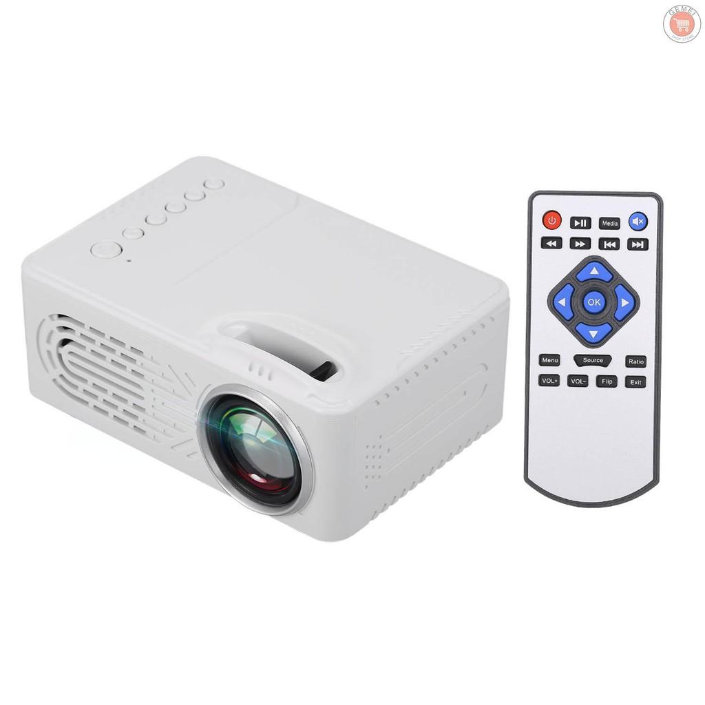 Led Projector 400 Lumens Mini โปรเจคเตอร์แบบพกพาพร้อมลําโพงรองรับ Hd / Av / Usb / Audio 3 . 5 มม . สําหรับโฮมเธียเตอร์