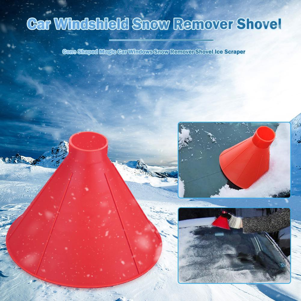 Magic Round Cone Ice Scraper Car Windshield Snow Remove Scraper Funnel Scraper