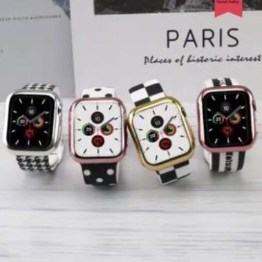 【5 แบบ】การพิมพ์ Apple Watch strap ซิลิโคนเหลว สายนาฬิกาข้อมือ iWatch Series SE 6 5 4 3 2 1สาย applewatch 38 40 42 44mm