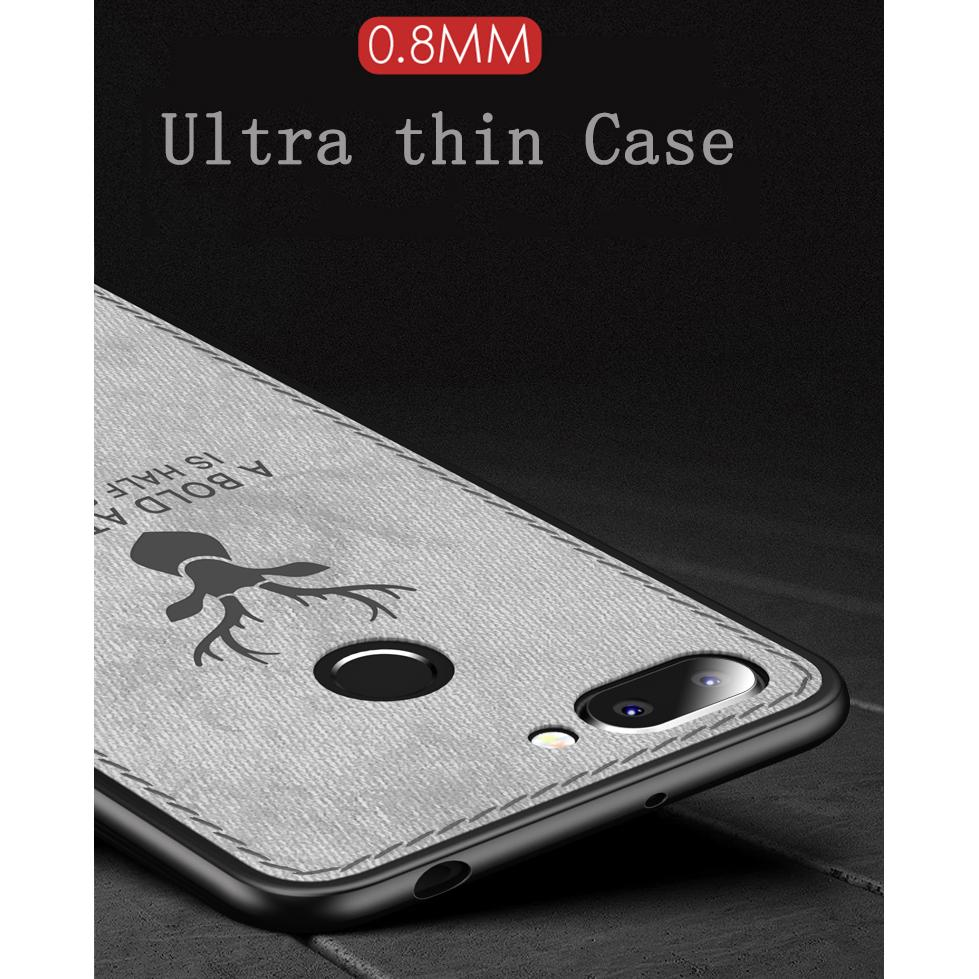 การขาย Luxury Christmas Deer Cloth Phone Cases For Xiaomi Mi 8 Redmi 6 6A Case Anti Fingerprint Ultra Thin Soft Silicone Cover ซื้อดีที่สุด - เท่านั้น ฿60