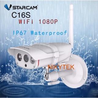 กล้องวงจรปิดไร้สาย ภายนอก กันน้ำ VStarCam C16S WiFi IP Camera 1080P 2.0ล้านพิกเซล