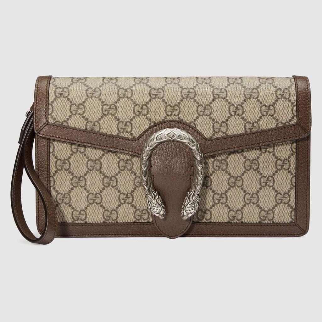 กระเป๋าแท้gucci / Dionysus Series Premium Canvas Clutch / แบบใหม่ / กระเป๋าสตางค์ใบยาว / ใส่เหรียญ / ของแท้ 100% / 26CM