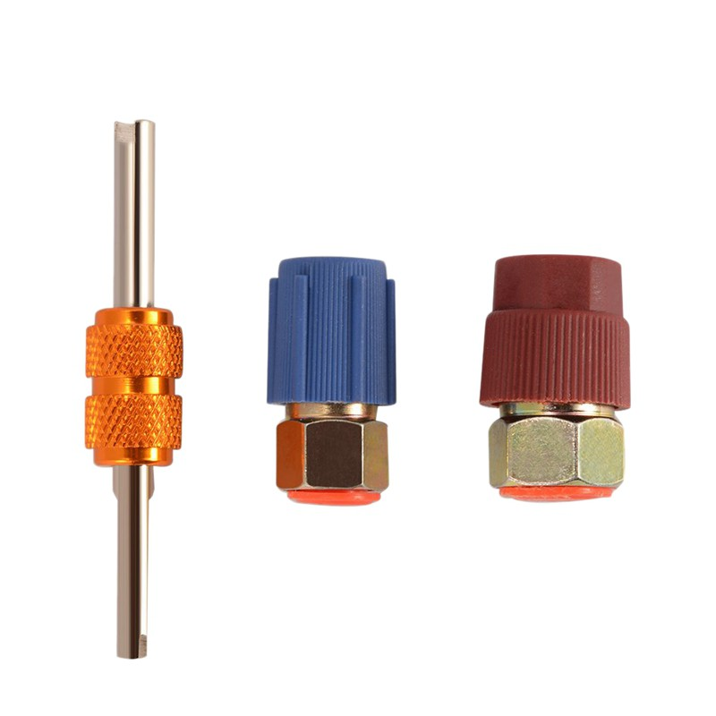 2 x A//C Charging Adapter Converts R12 to R134a Retrofit Connector 90 degree