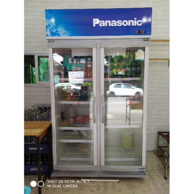 ตู้เย็น ตู้แช่ ตู้แช่น ตู้แช่เครื่องดื่ม panasonic 2 ประตู มือสอง สภาพดี