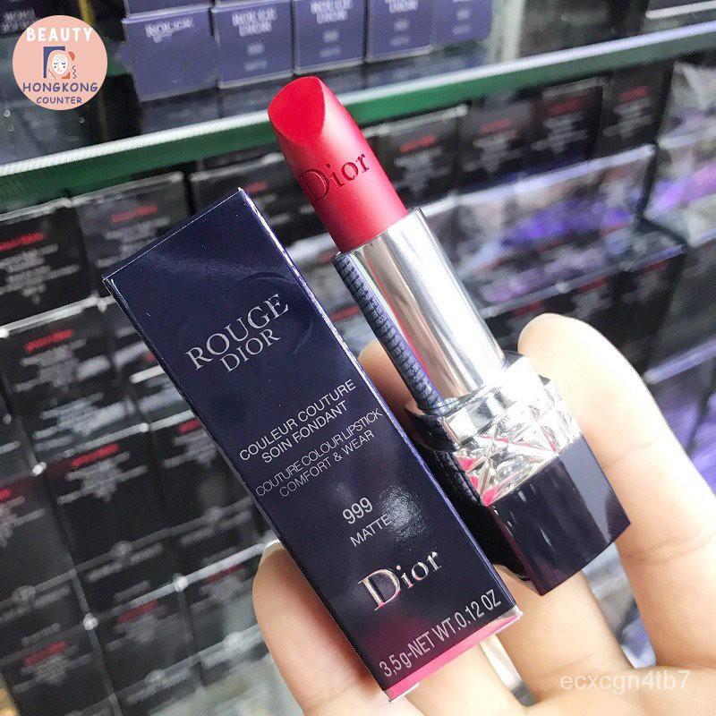 แท้100%DIOR ROUGE Couture Colour Lipstick 999# 888# 1.5g ฮ่องกงช็อปปิ้ง แท้100%