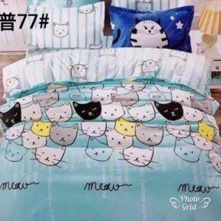 ส่งฟรีแมวหมู่77ชุดที่นอน6ฟุต6ชิ้นภาพตรงปกส่งฟรี