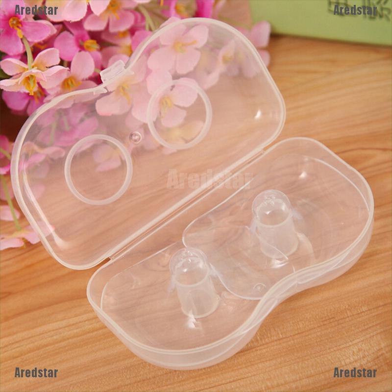 2pcs Soft Silicone Breast Feeding Nipple Protectors Shields