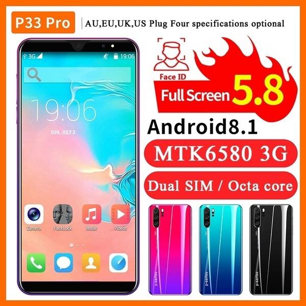 5 . 0/5 . 8 นิ้ว Android 8 . 0 สมาร์ทโฟน 4+32 Gb Mtk 6580 Octa Core 3g