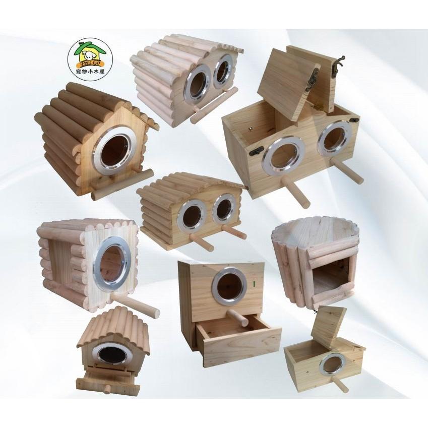 วางกล่องเพาะพันธุ์นกกรงในบ้านนกกรงรังนกรังนกนกแก้วรังนกบ้านนกไม้