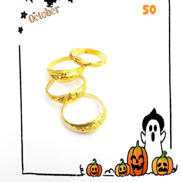 แหวนทอง 96.5% หนัก 1 กรัม ราคาจาก 2,500- เหลือ 2,390-ไซส์ 50
