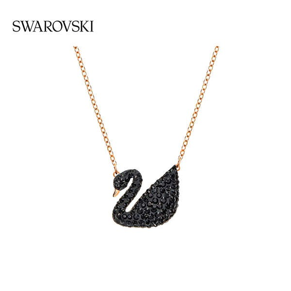 Swarovski Black Swan (ใหญ่) ICONON หงส์ สร้อยคอของผู้หญิงโซ่กระดูกไหปลาร้า