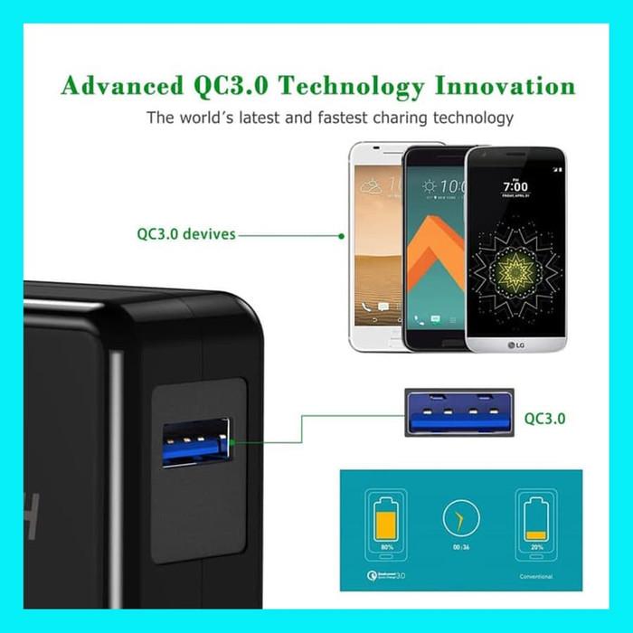 อะแดปเตอร์ชาร์จเร็ว Qc 3.0 Choetech 18 W สําหรับ Samsung Iphone Oppo Vivo