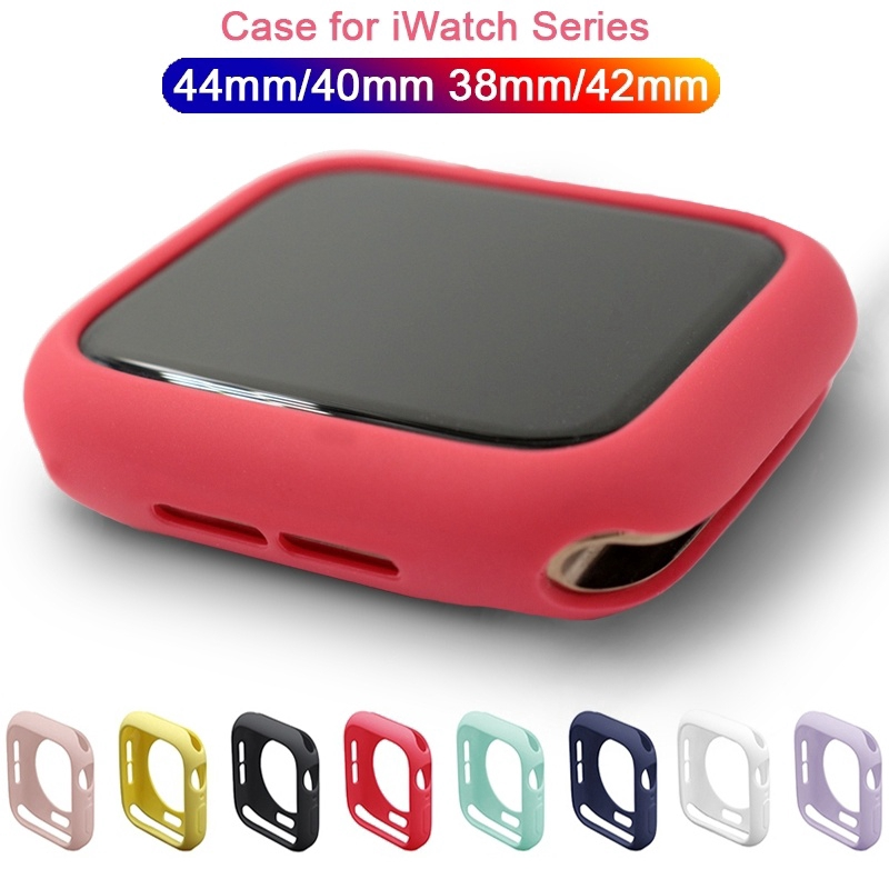 Colorful Soft TPU Case Apple Watch Protector Cover for iWatch Series 5 4 3 2 1 38mm 42mm 40mm 44mm