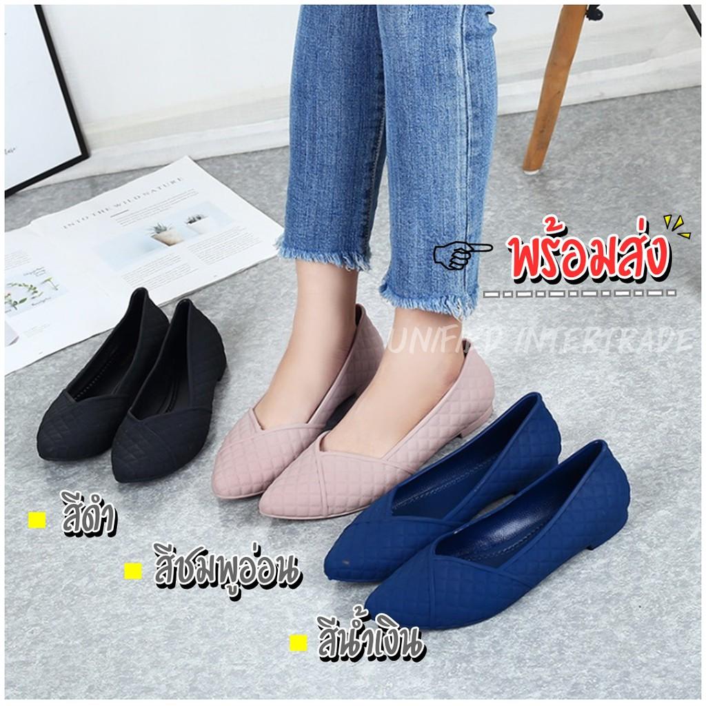 พร้อมส่ง! รองเท้าคัชชู แฟชั่น เกาหลี ปลายหัวแหลม รองเท้าผู้หญิง ใส่สบาย