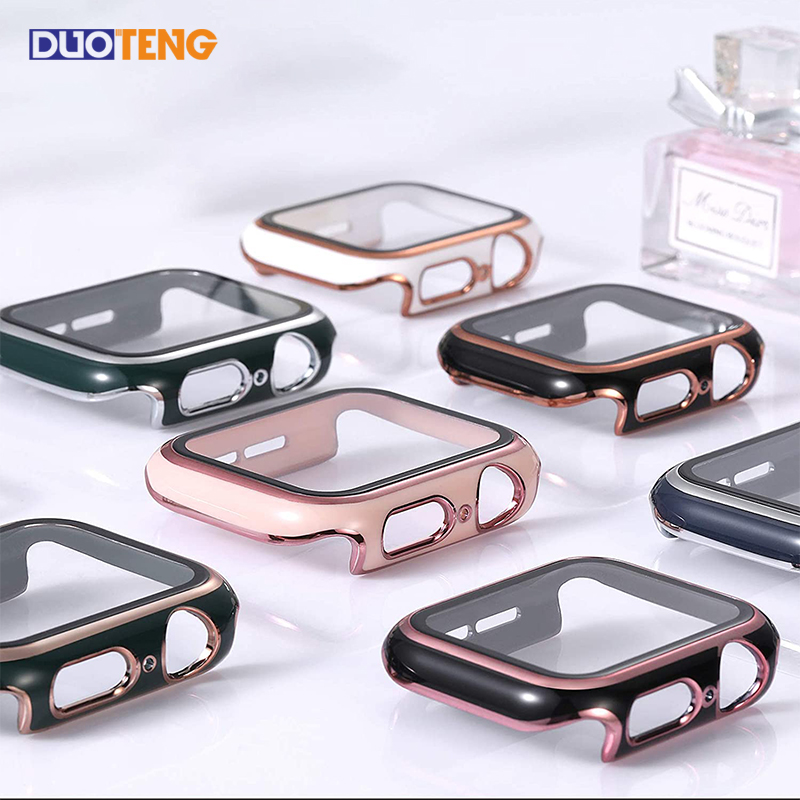 Duo Teng Apple Watch SE 6 5 4 Case 40mm 42mm Protective Cover For iwatch Series 5 4 3 2 1 Protector Film 38mm 44mm Full proctect New Smart Watch Accessories