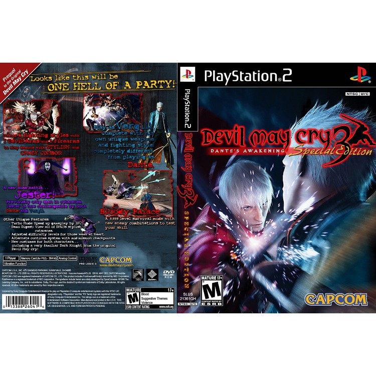 DEVIL MAY CRY 3 SPECIAL EDITION [PS2 US : DVD5 1 Disc]