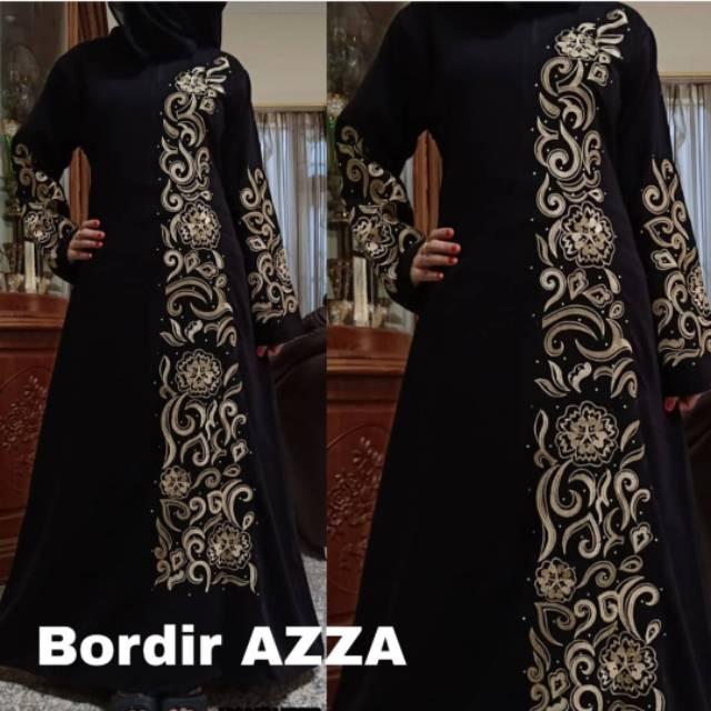 Azza เสื้อคลุมปักลายแฟชั่น Plus Pashmina