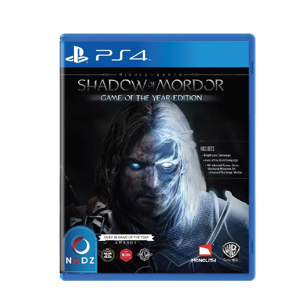 PlayStation 4 : Middle Earth Shadow of Mordor Game of the Year (R1