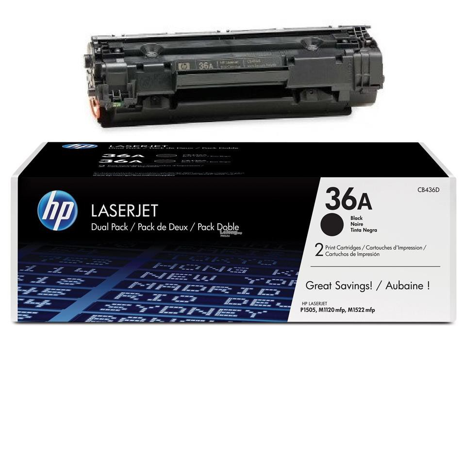 5X CB436A 36A Laser Black Toner Cartridge for HP LaserJet P1505n M1522NF Printer