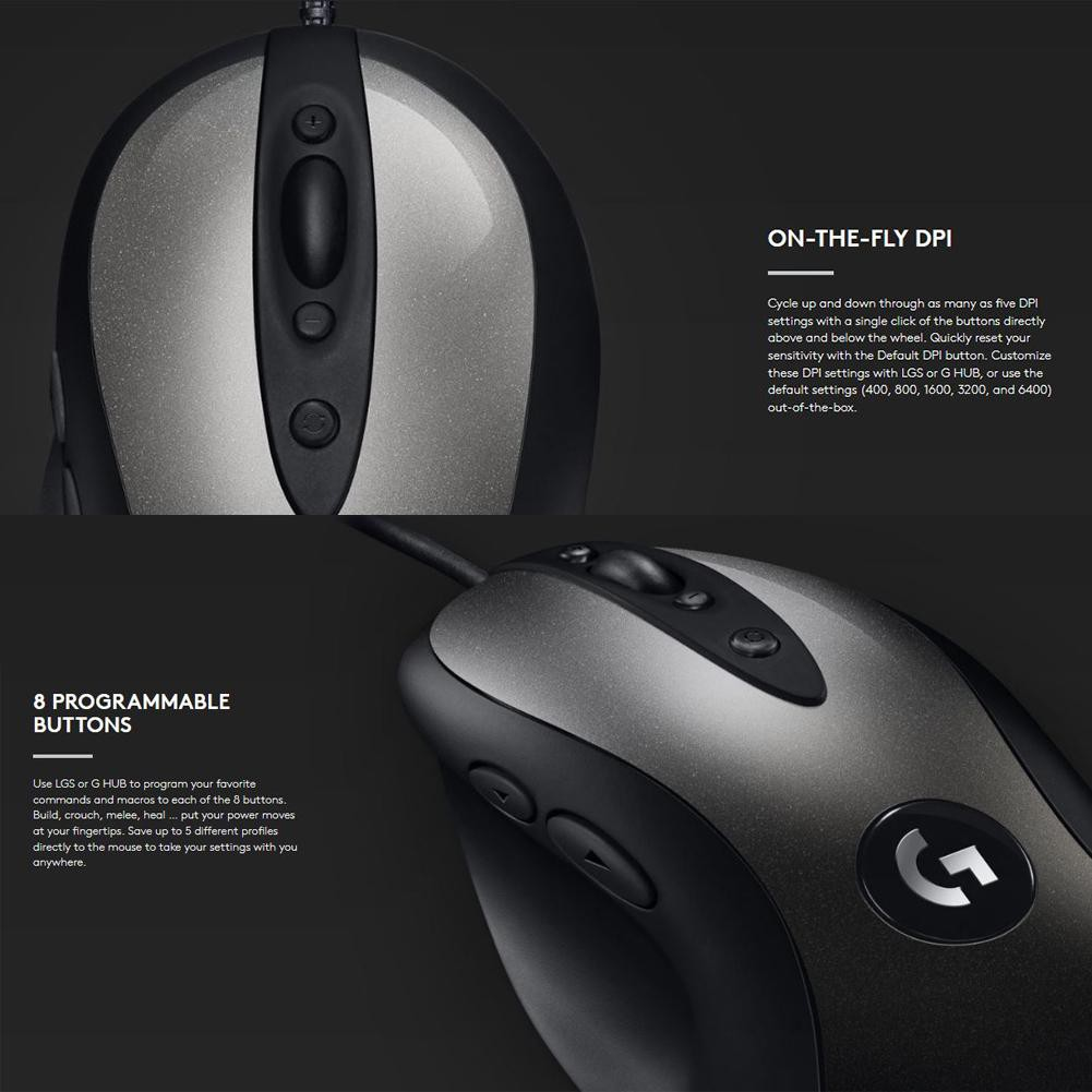 ☞SCS☜Logitech MX518 Classic Wired Gaming Mouse 16000DPI 8 Programmable  Buttons