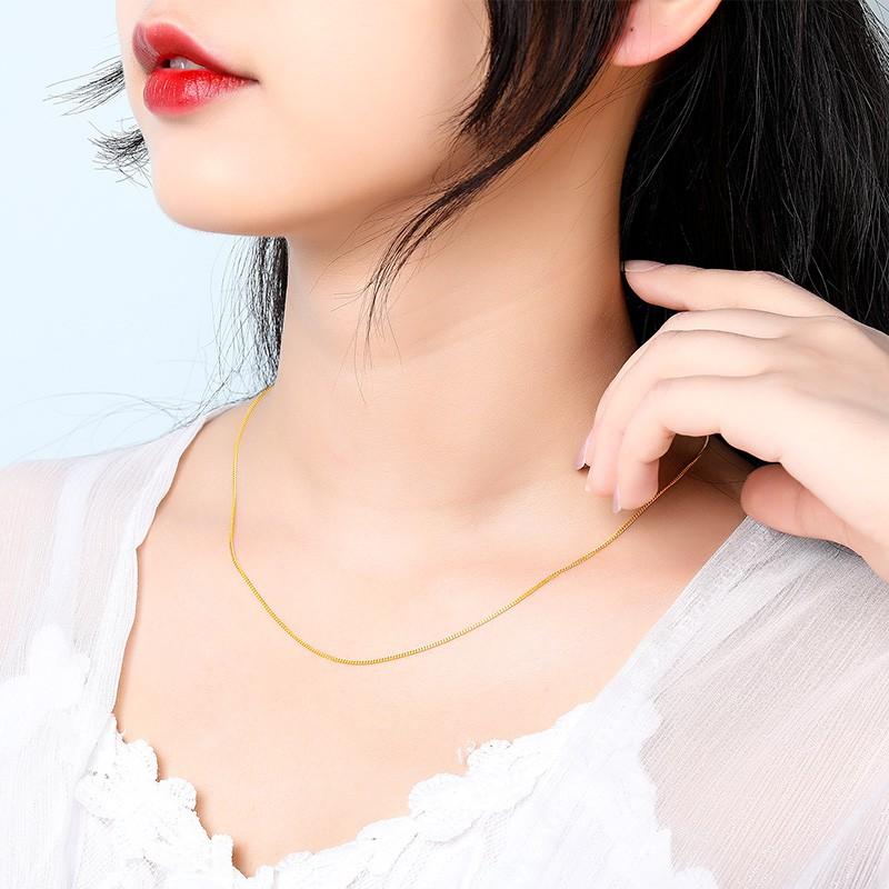 ✒ஐสร้อยคอทองคำ Mengjinyuan ทองคำบริสุทธิ์ 999 โซ่ด้านข้างโซ่ไหปลาร้าแฟชั่นทุกคู่ราคาของขวัญสำหรับผู้หญิง