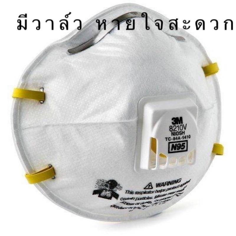 หน้ากาก3M N95 8210V หน้ากากป้องกันฝุ่น ละออง pm2.5