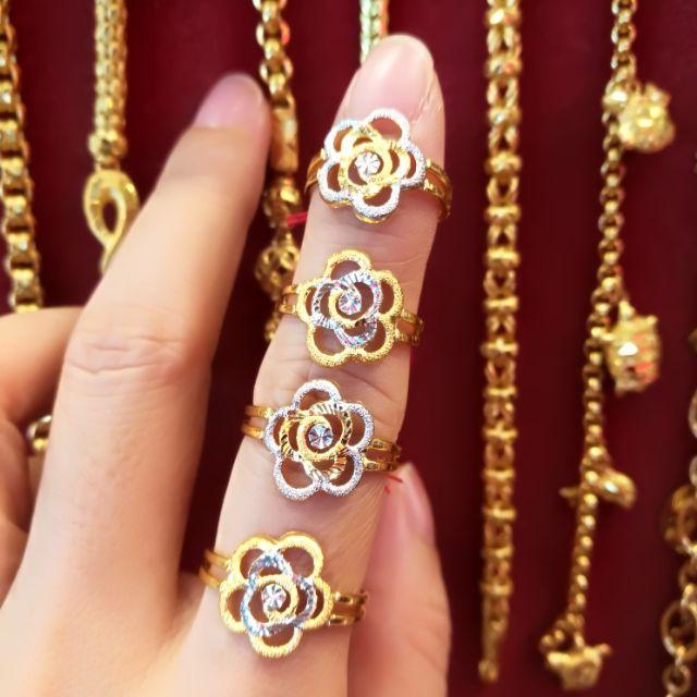แหวนทองแท้ 96.5% น้ำหนักทอง ครึ่งสลึง ราคา 4,350 บาท