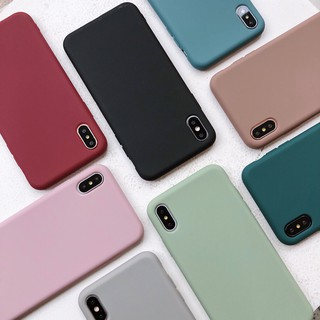 Review [12 color] IPhone Case เคสนิ่ม เนื้อซิลิโคน APPLE iPhone X XS MAX XR 6+/6S/7+/8PLUS soft case full cover