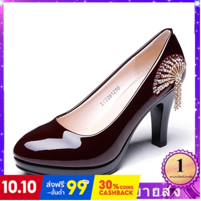 ⭐👠รองเท้าส้นสูง หัวแหลม ส้นเข็ม ใส่สบาย New Fshion รองเท้าคัชชูหัวแหลม  รองเท้าแฟชั่นใหม่รองเท้าผู้หญิงแต่งตัวรองเท้าส้น