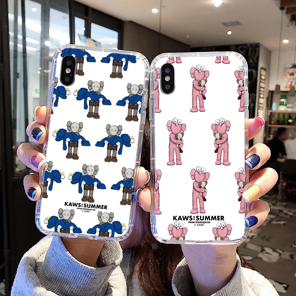 Kaws Apple iphone xr casing iphone x shof case iphone xsmax handphone cover iphone xs silicone airbag Transparent case