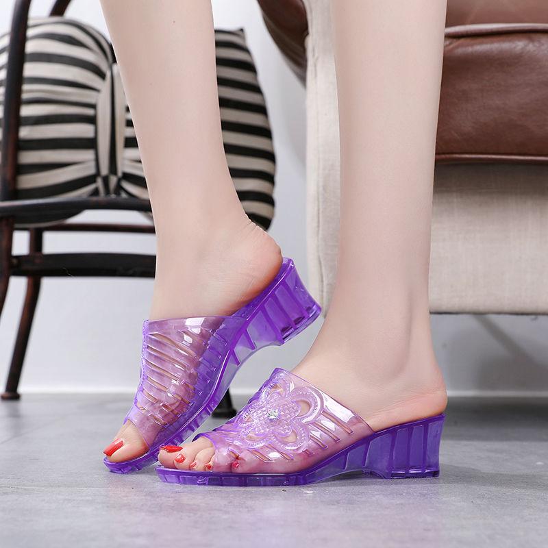 ⭐👠รองเท้าส้นสูง หัวแหลม ส้นเข็ม ใส่สบาย New Fshion รองเท้าคัชชูหัวแหลม  รองเท้าแฟชั่นแฟชั่นคริสตัลรองเท้าแตะหญิงรองเท้าส