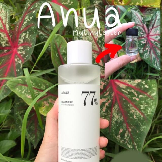 ค่าส่งเริ่มต้นที่ 20฿ *แบ่งขายโทนเนอร์พี่จุน Anua heartleaf 77% soothing toner 5 ml*