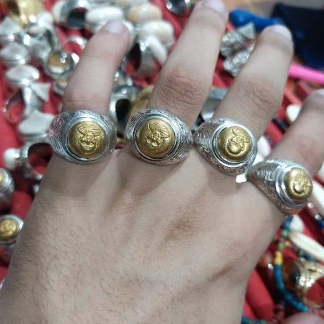 แหวนเงิน แหวนหัวนโมพ่อท่านคล้าย วัดจัดดี หัวนโม