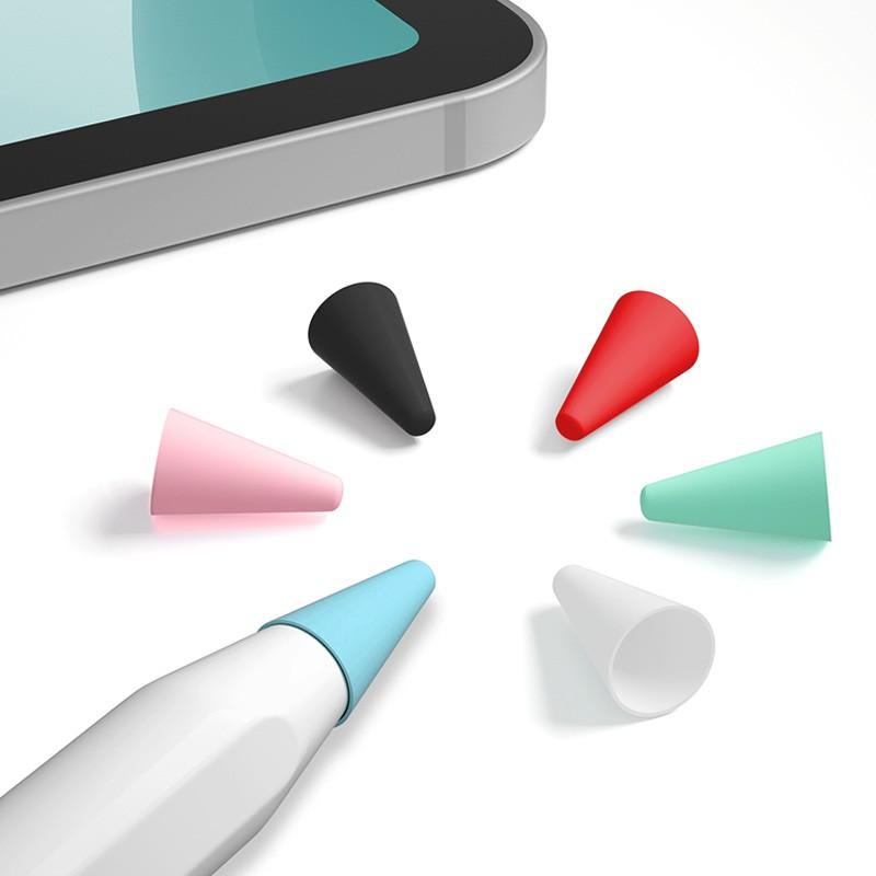 ☋☫❅ส่ง APP] ฝาปิดไส้ปากกา Apple applepencil รุ่นที่ 1 2 iPad ดินสอสัมผัสปากกาปลายปากกากาวเขียนเงียบไม่ - ลื่นสวมใส่ปากก