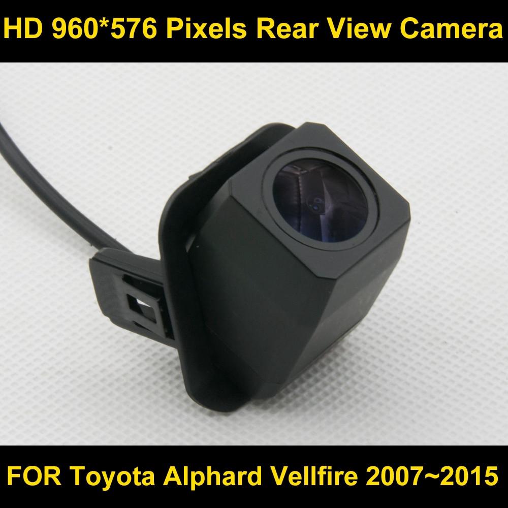 กล้องมองหลัง HD 960 x 576 สำหรับ Toyota alphard vellfire 2007-2015 กันน้ำ