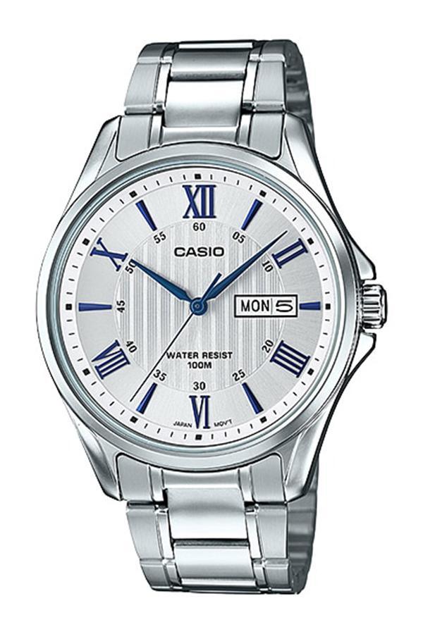 Casio Standard นาฬิกาข้อมือผู้ชาย สายสแตนเลส รุ่น MTP-1384D-7A2 - สีเงิน ErYD