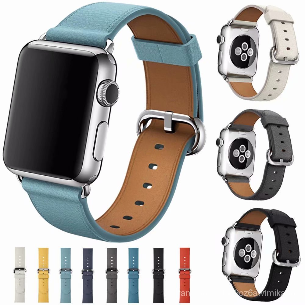 belt for iWatch Band series 5 4 3 2 1 Replacement Classic Buckle for Apple Watch strap 38mm 42mm 40mm 44 Leather loop 6X