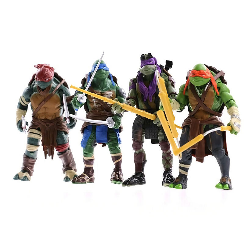 Variants Era 2014 Movie 4 Paragraph Teenage Mutant Ninja Turtles TMNT Movable Joint Figure Doll Toy Garage Kit Model