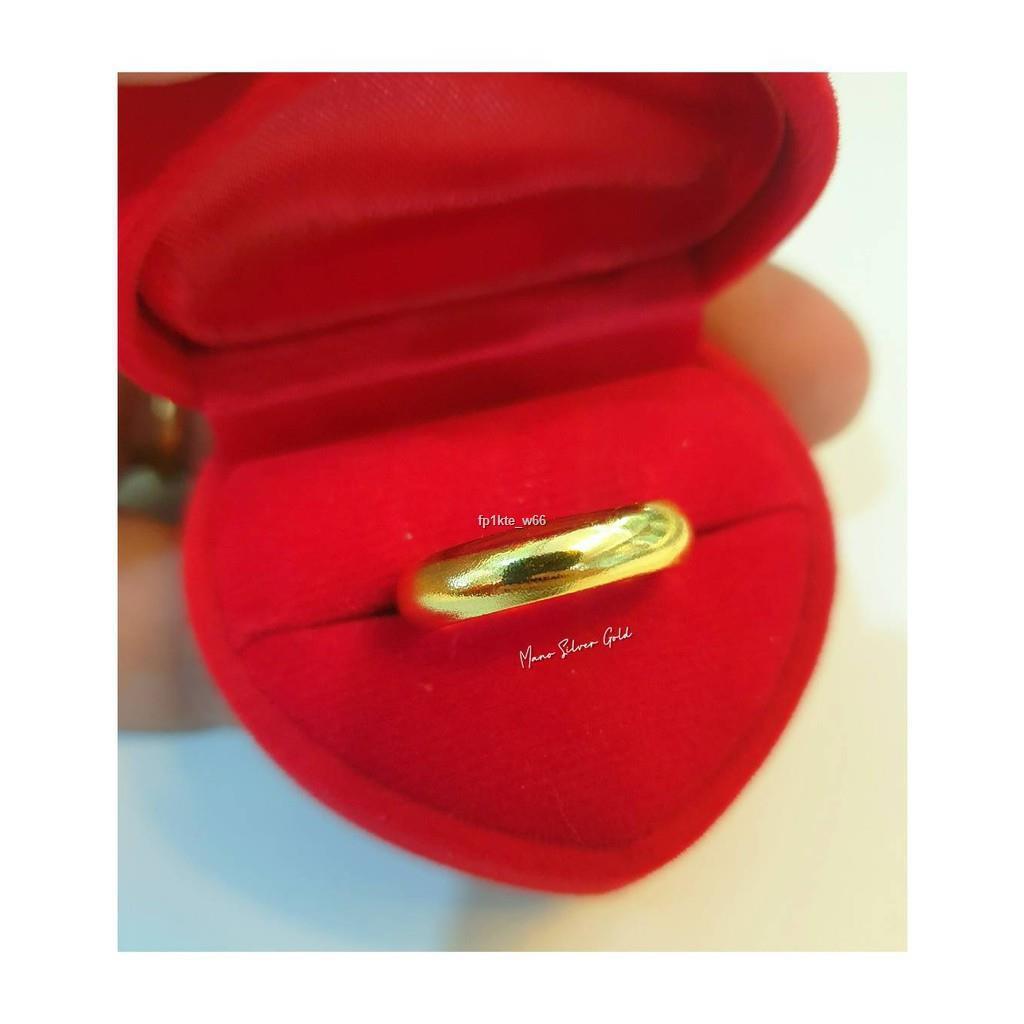 ราคาขายส่ง❀﹊แหวนทองเคลือบ 040 แหวนทองเคลือบแก้ว หน้ากว้าง 5มิล ทองสวย แหวนทอง แหวนทองชุบ แหวนทองสวย  แหวนหนก ครึ่ง สลึง