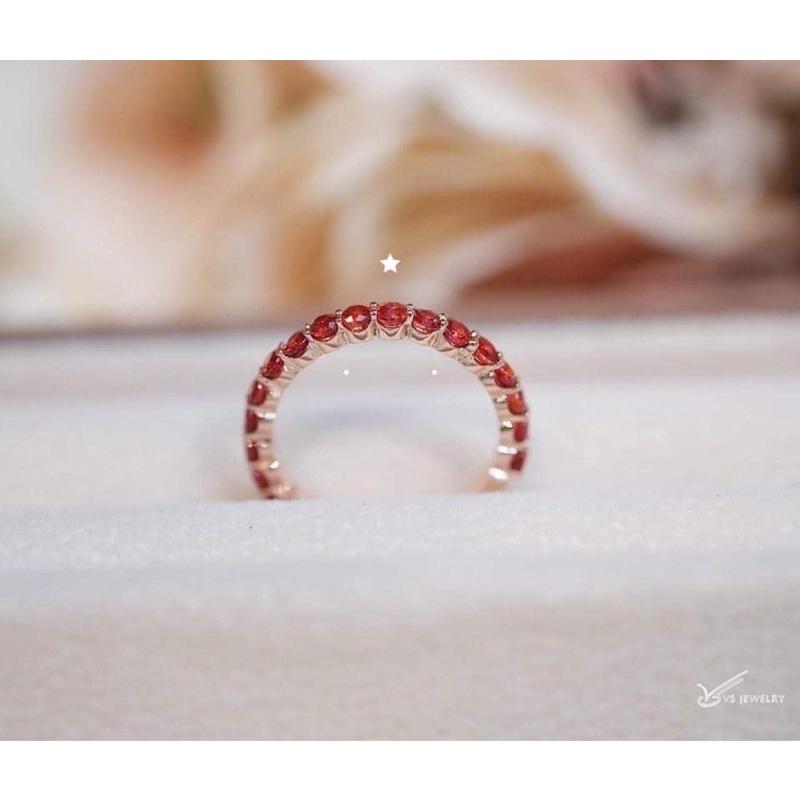 แหวนเพชรรอบนิ้ว  #42   เพชร6ตัง=19เม็ด (ขนาด2.5 มม) รวม1.14กะรัต นน.ทองประมาณ 2.2กรัม  ราคา*น้ำ99