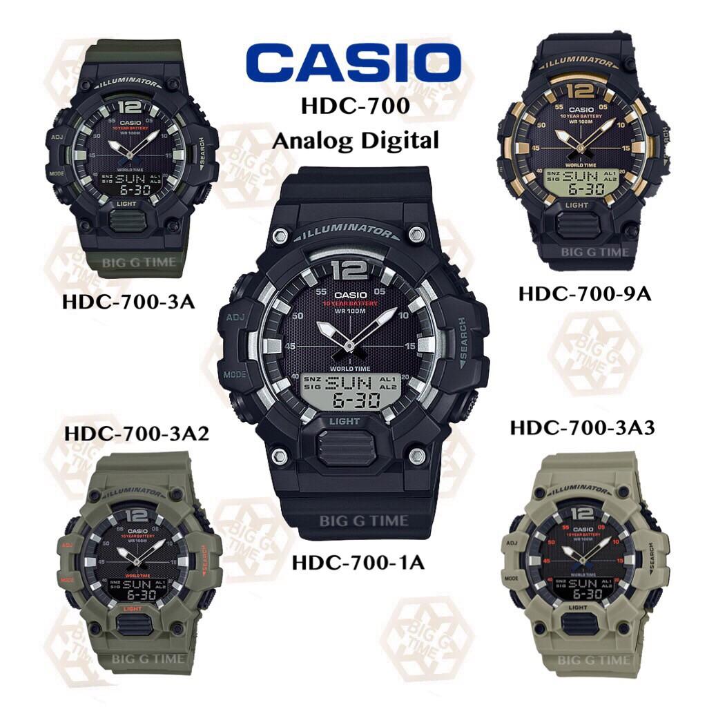 นาฬิกา Casio ของแท้รับประกัน1ปี รุ่น HDC-700 Series HDC-700-1A/ HDC-700-3A/ HDC-700-3A2 /HDC-700-3A3/ HDC-700-9A