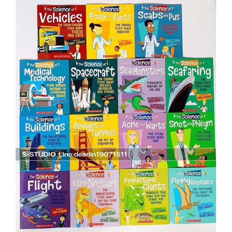 SCHOLASTIC The Science of Engineering  Children's Anatomy Books 15books