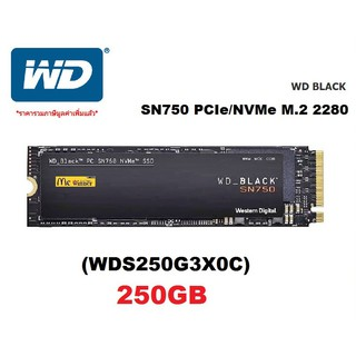 Image # 0 of Review 250GB SSD (เอสเอสดี) WD BLACK SN750 PCIe/NVMe M.2 2280 (WDS250G3X0C) - สินค้ารับประกัน 5 ปี