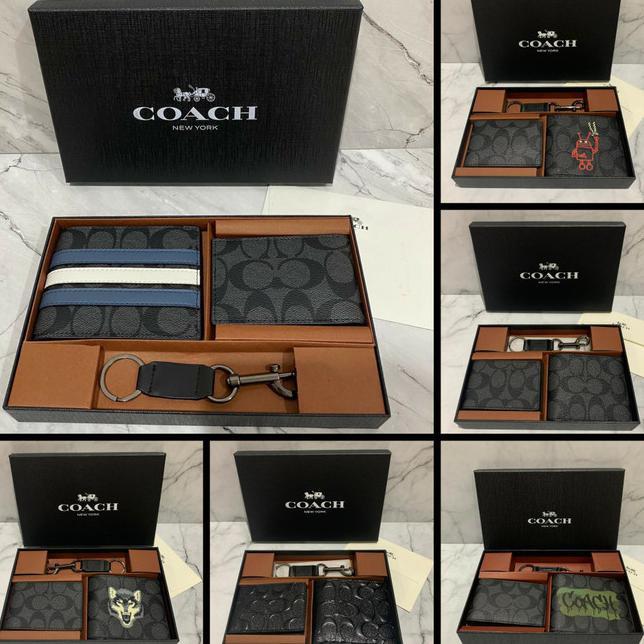 กระเป๋าสตางค์ Coach / Coach ใบสั้นสําหรับผู้ชาย