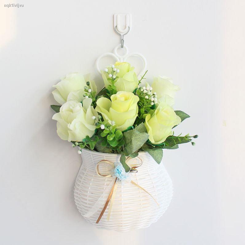 การจำลองพันธุ์ไม้อวบน้ำ☞แขวนผนังดอกไม้ประดิษฐ์กระเช้าดอกไม้ปลอมชุดติดผนังดอกไม้ตกแต่งบ้าน ดอกไม้ ตกแต่งห้องนอน ดอกไม้พลา